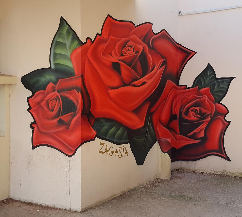 Anamorphose sur un mur réalisée par ZaG + Sia - ©No Fake In My News