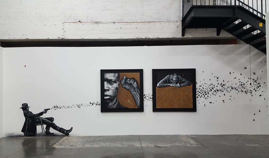 """""""Attirés par la lumière"""" par Jef Aerosol - STREET GENERATION (S) 40 ans d'art urbain 2017 - ©No Fake In My News"""