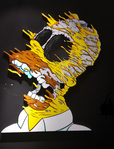 """Deconstructed Homer"" de matt Gondek"