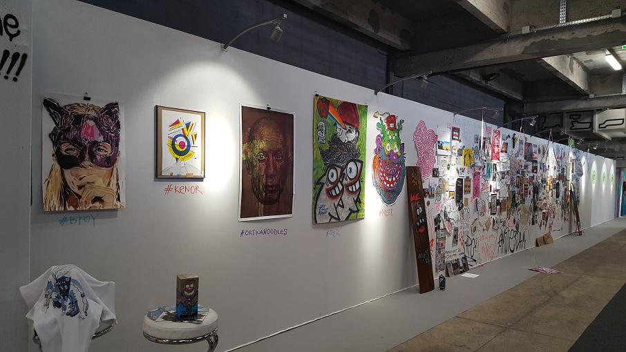 Mur d'artstes divers de Amsterdam Galerie