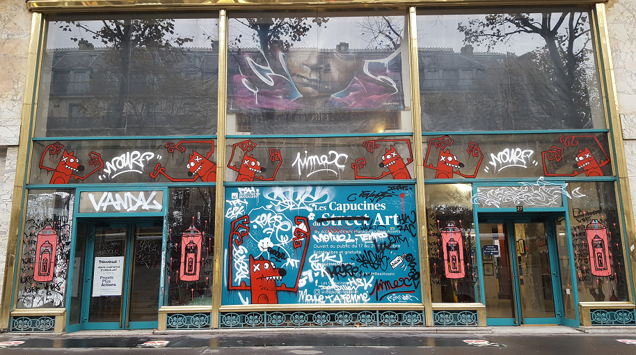 Du street art sur le Boulevard des Capucines