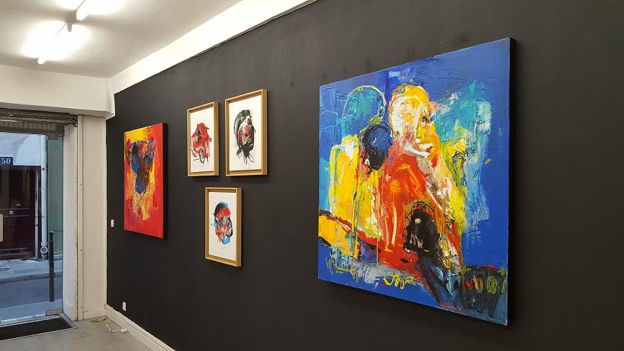 """Diverses œuvres de la série """"faits divers"""" 2017 par Rafiy Okefolahan"""