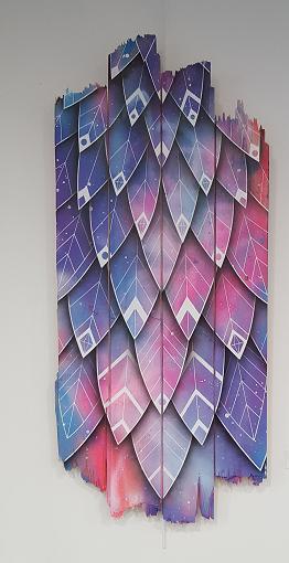 Fusion #1 - acrylique et aerosol sur bois - par Céz Art- ©No Fake In My News