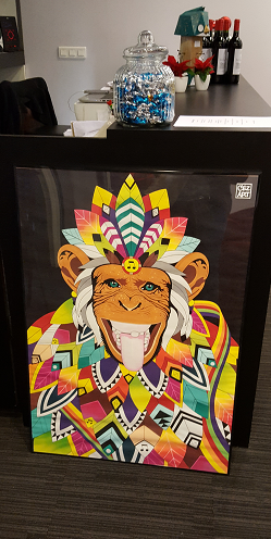 Happy monkey – acrylique et spray sur toile 2