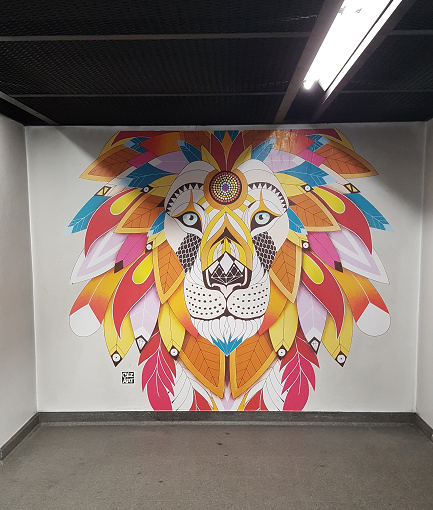 Projet Color Fusion - Mural lioness par Céz Art - ©No Fake In My News