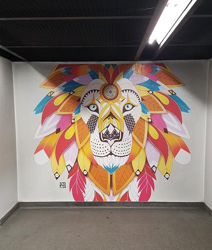 Projet Color Fusion - Mural lioness par Céz Art - ©No Fake In My News