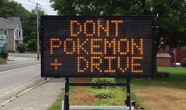 Affichage de sécurité, Don't pokemon drive