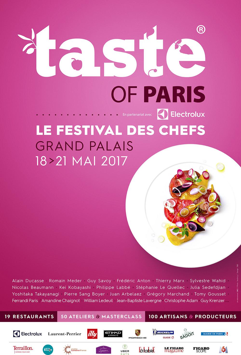 """Affiche du festival des chefs """"Taste of paris"""""""