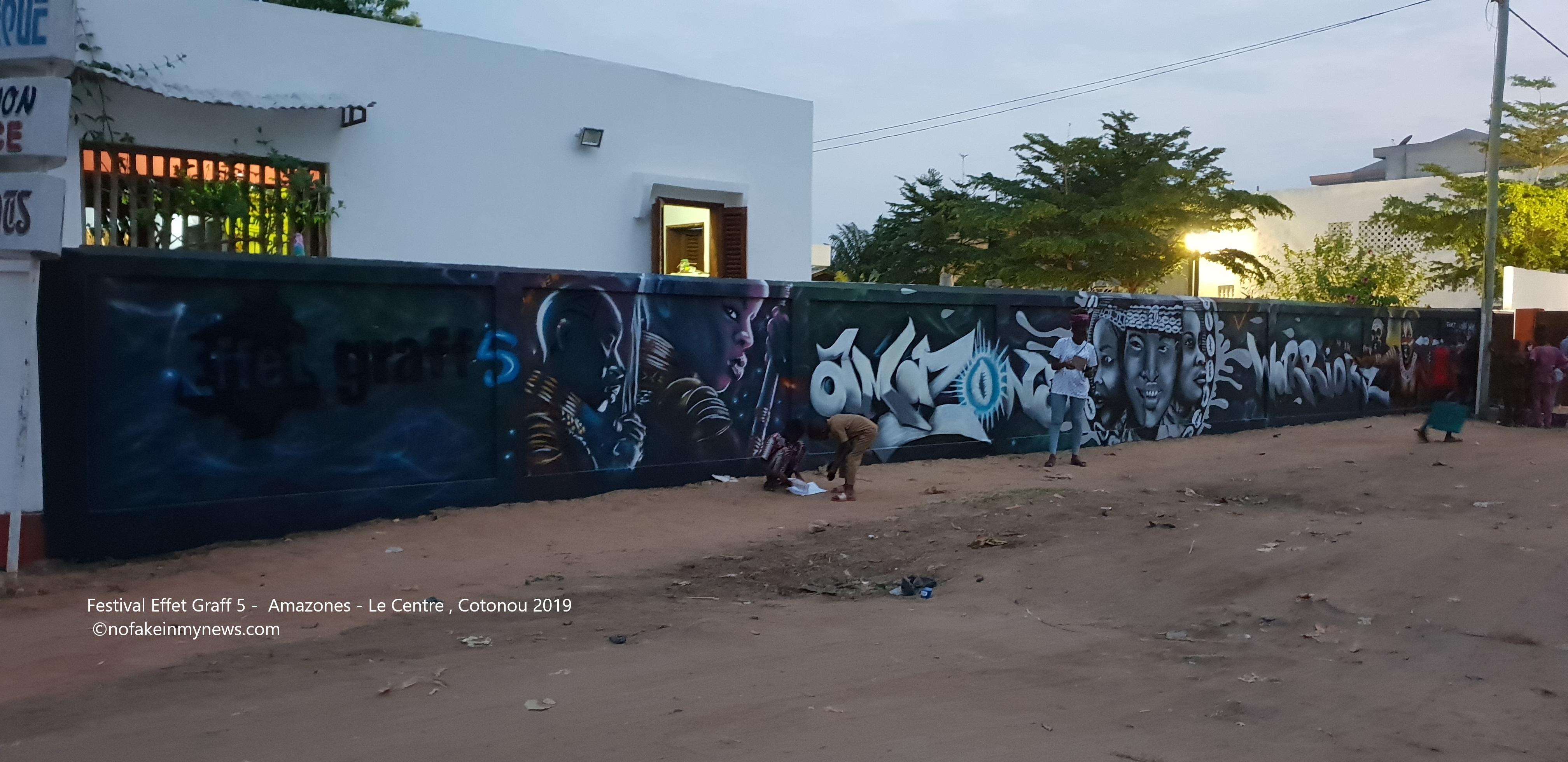 Festival Effet Graff 5 – Amazones – Le Centre Cotonou 2019 – ©nofakeinmynews