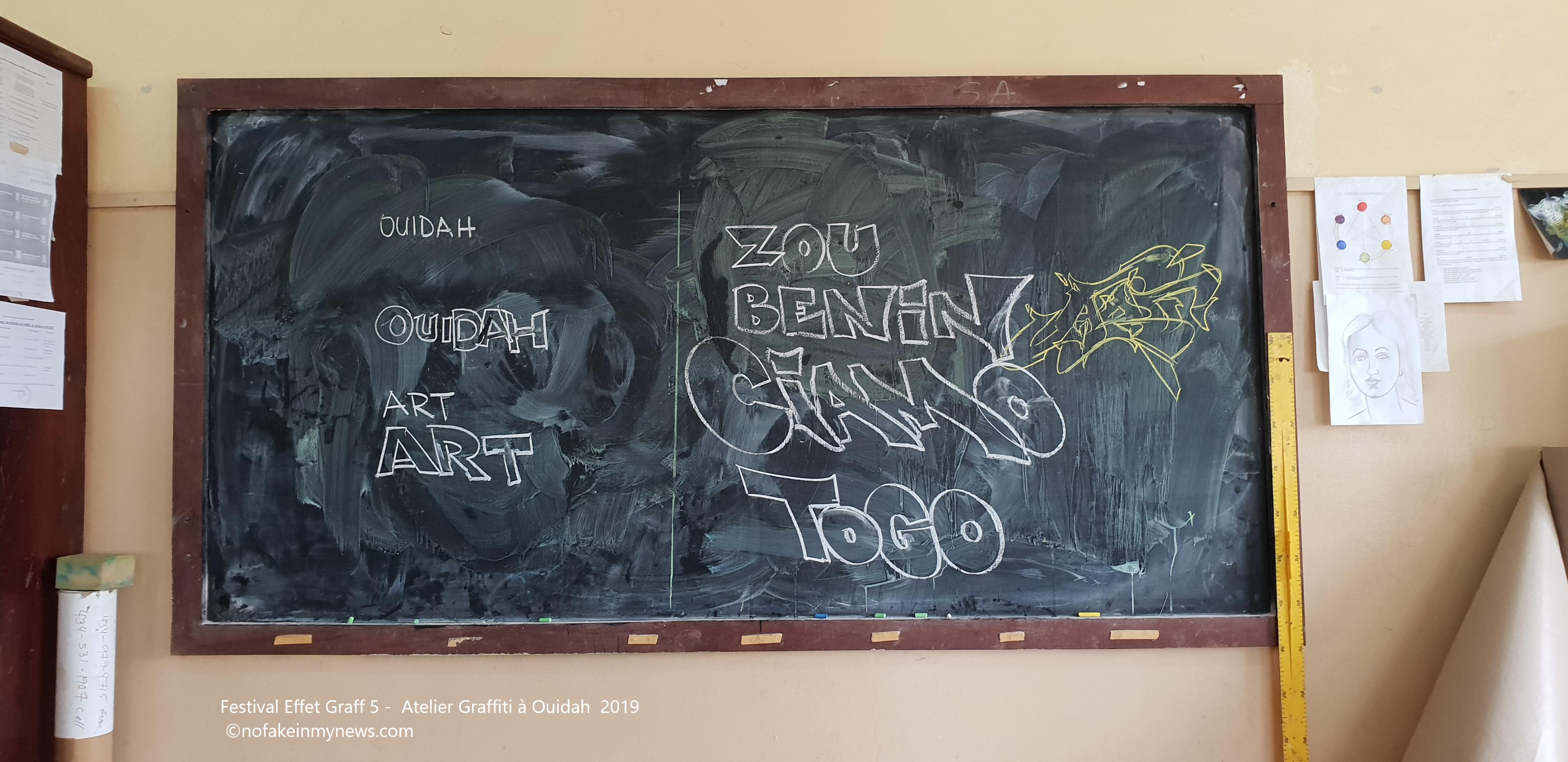 Festival Effet Graff 5 - Atelier Graffiti à Ouidah 2019 ©nofakeinmynews