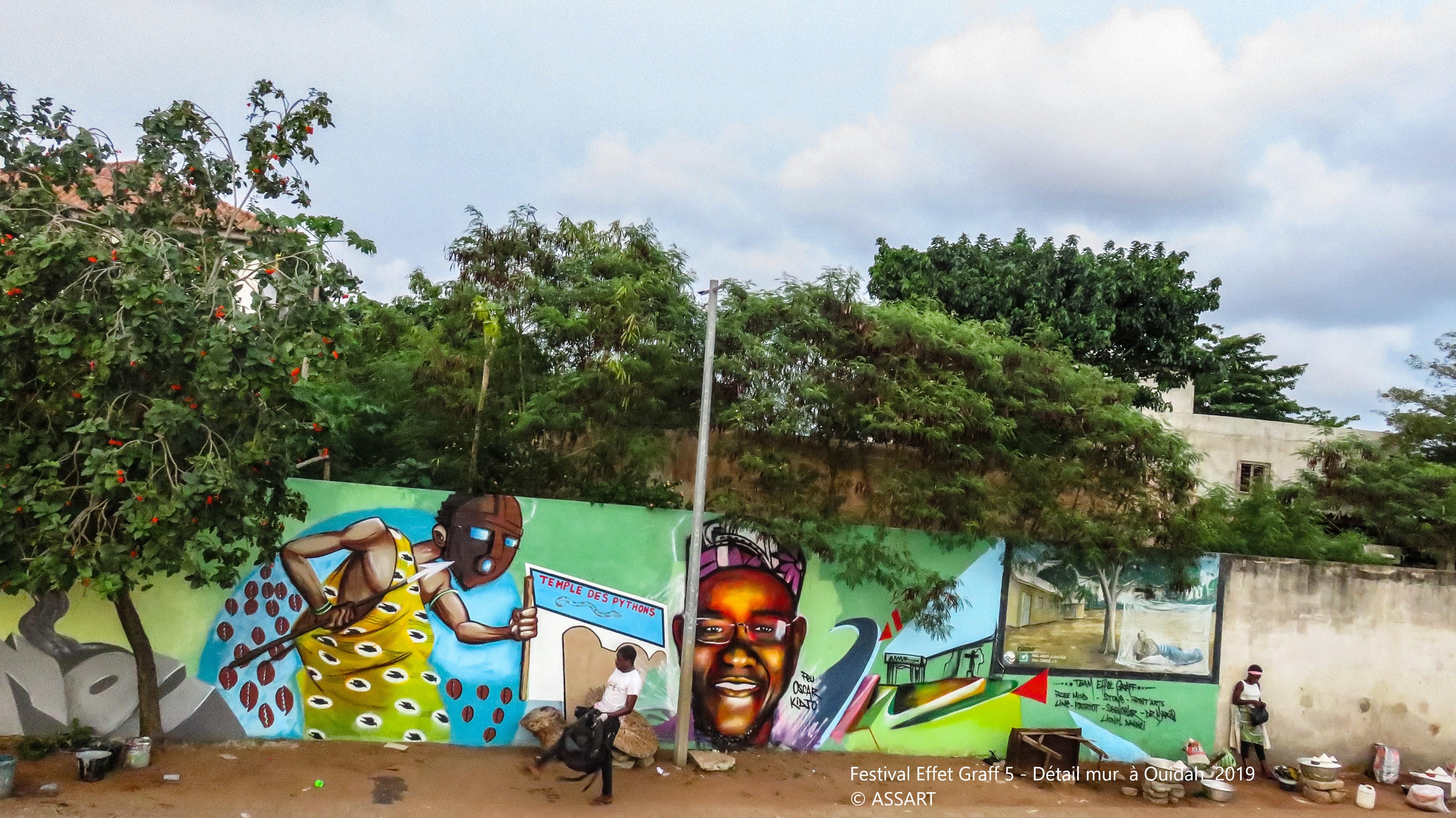 Festival Effet Graff 5 - Détail mur à Ouidah 2019 - ©ASSART