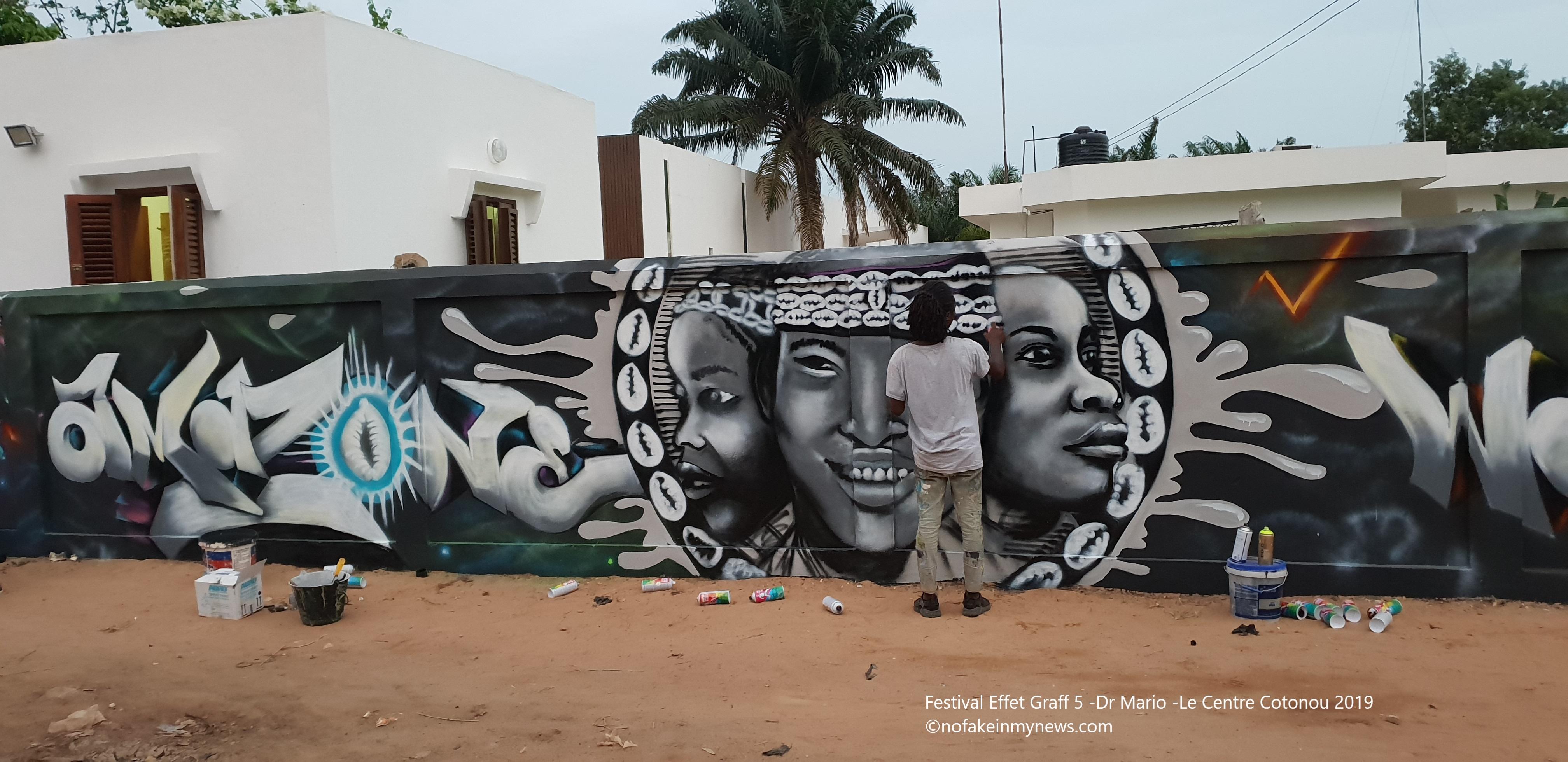 Festival Effet Graff 5 -Dr Mario -Le Centre Cotonou 2019 - ©nofakeinmynews