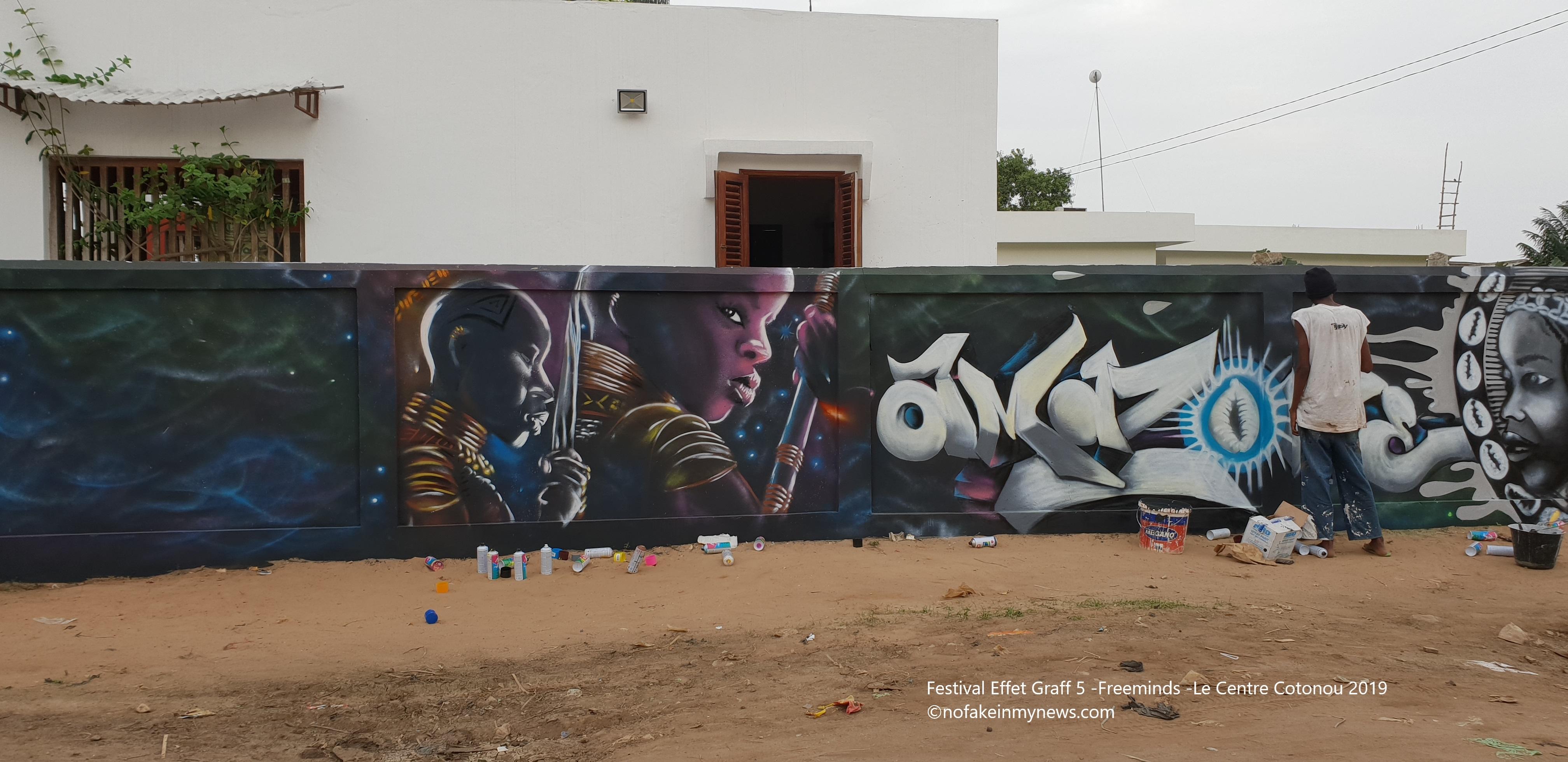 Festival Effet Graff 5 -Freeminds -Le Centre Cotonou 2019 - ©nofakeinmynews