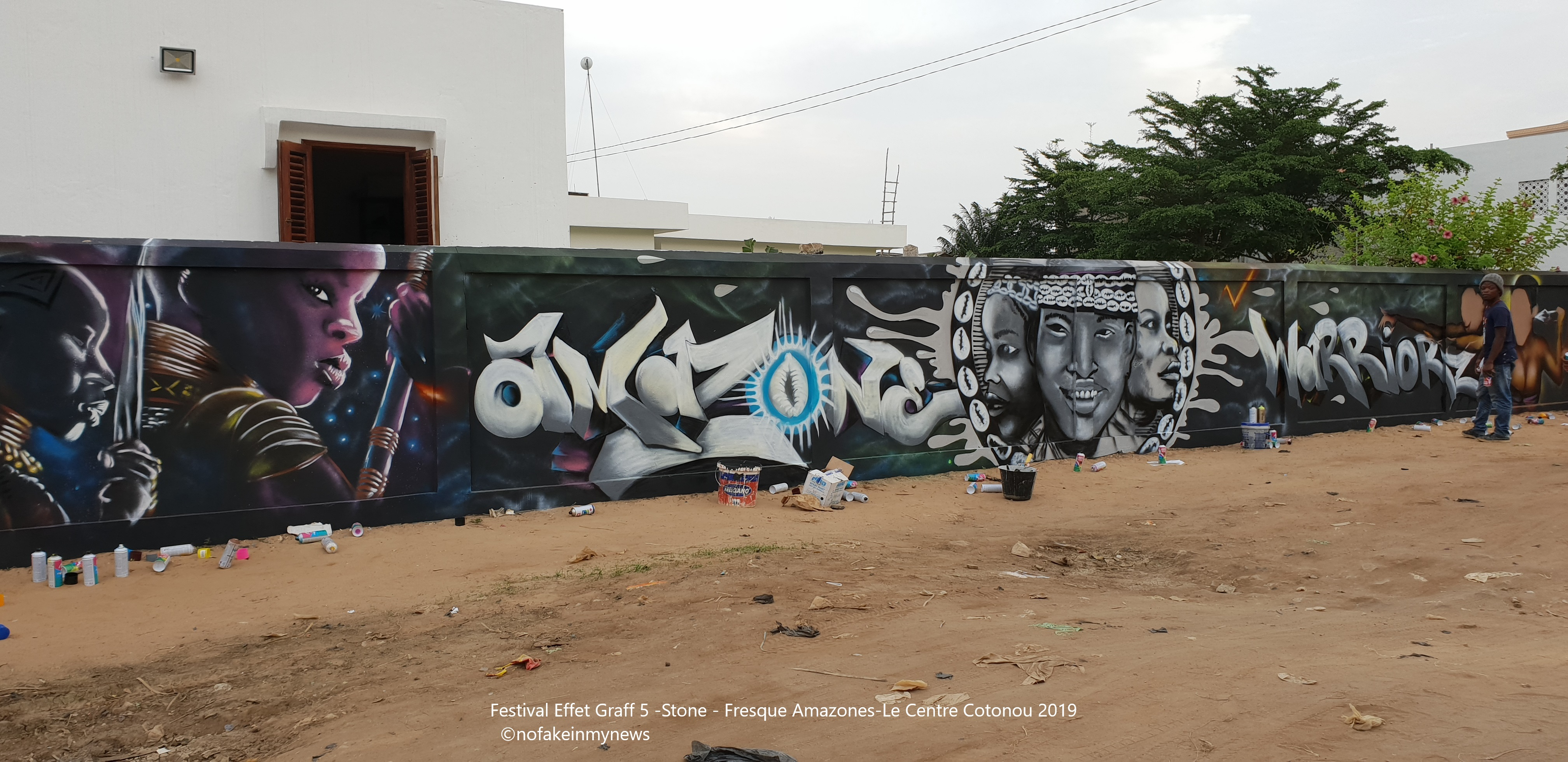Festival Effet Graff 5 -Stone -Le Centre Cotonou 2019 - ©nofakeinmynews