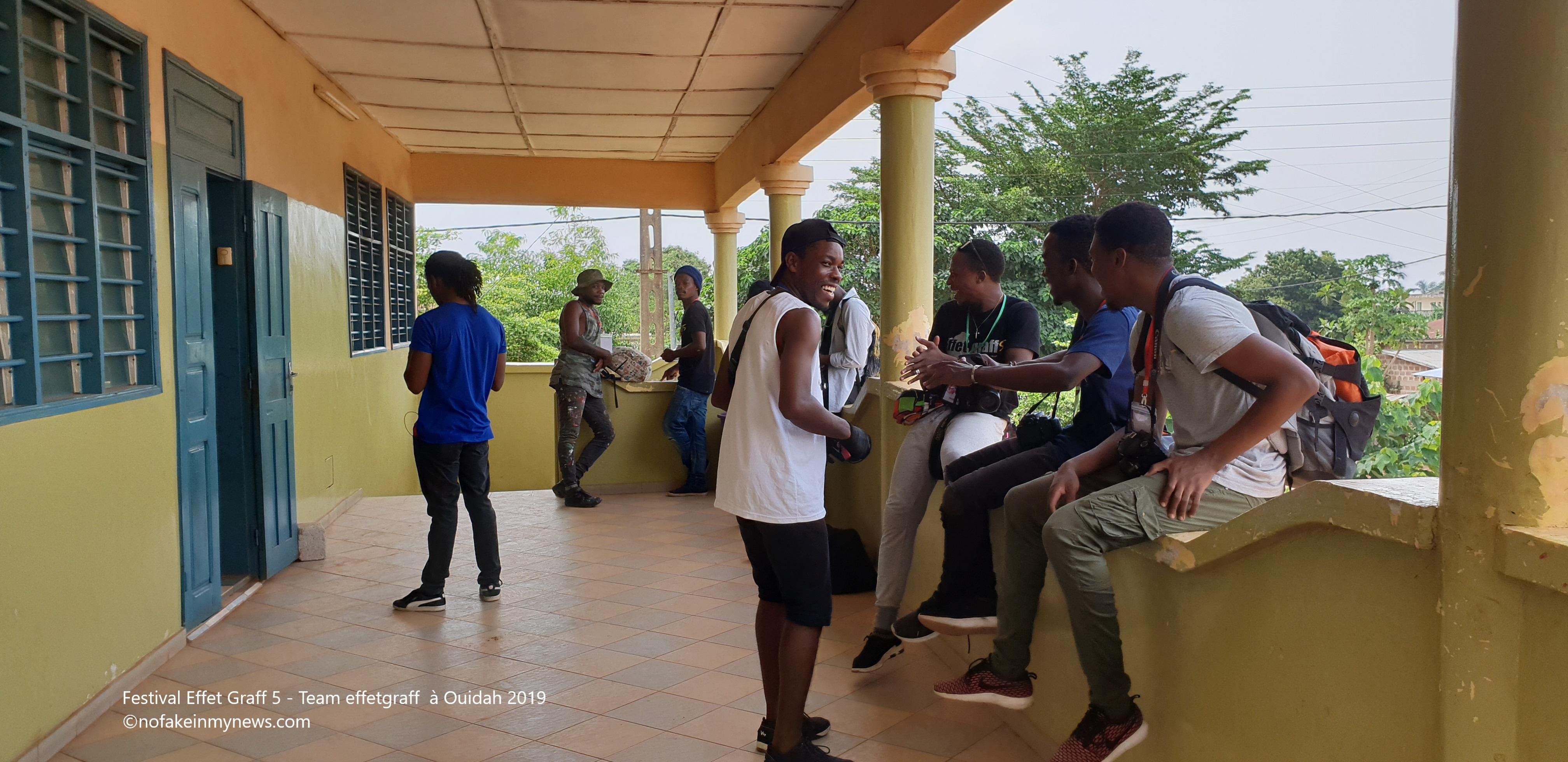 Festival Effet Graff 5 - Team effetgraff à Ouidah 2019- ©nofakeinmynews