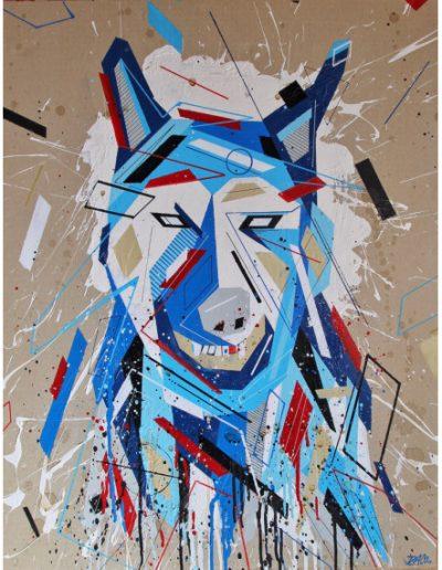 « Graffaune 1 » par DACO -Aérosol et peinture acrylique sur carton - 2018 ©Association Art'Murs