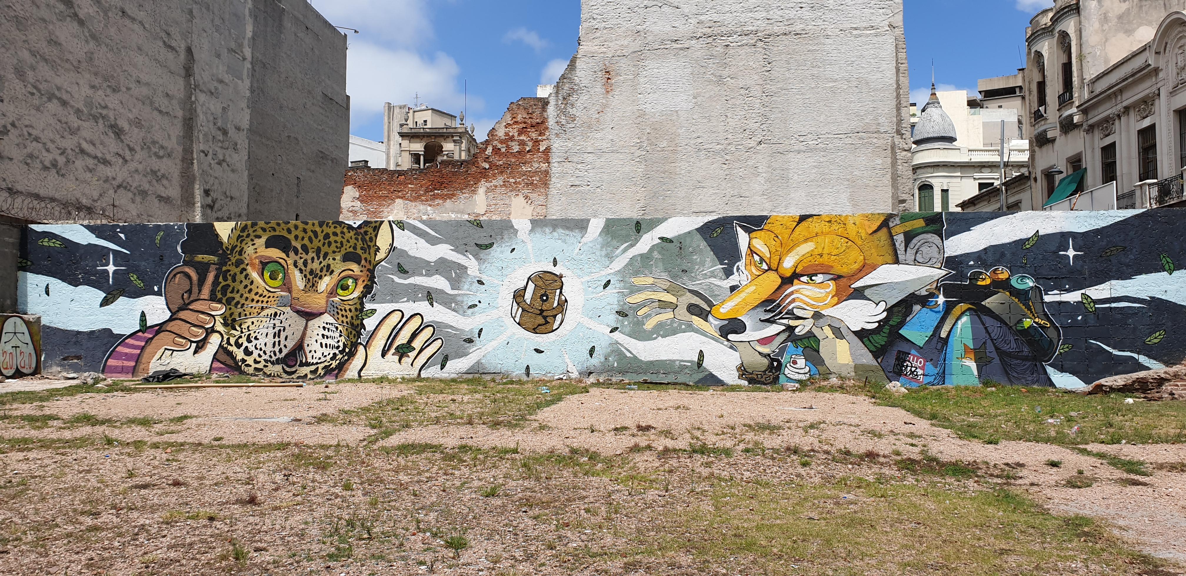 Mur réalisé par CondE COF et eXRandÖmyKo - Montevideo- Uruguay 2020 - ©nofakeinmynews.com