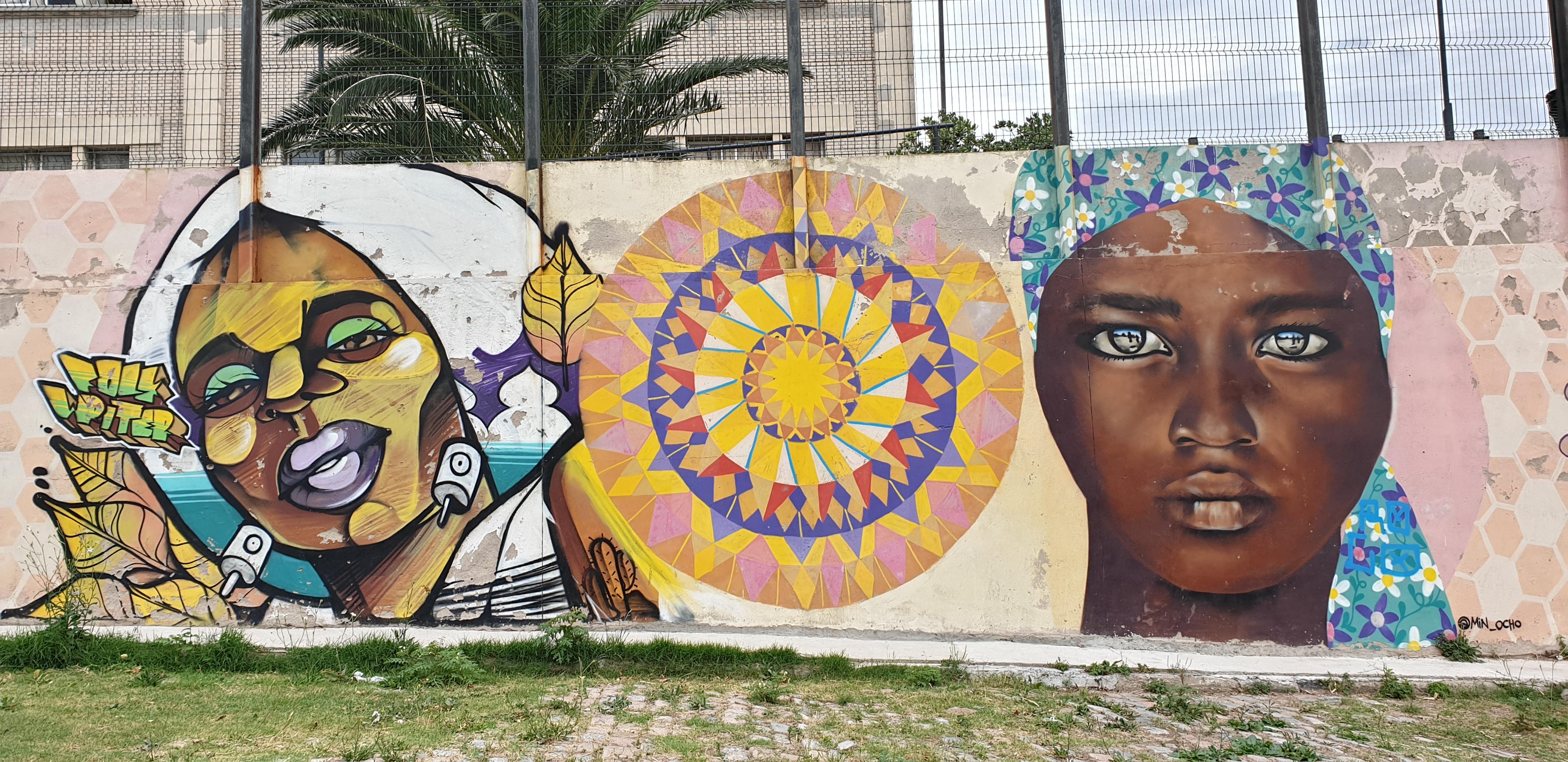 Mur réalisé par FOLK , Wendchinita, MIN8 - Montevideo - Uruguay 2020 - ©nofakeinmynews.com