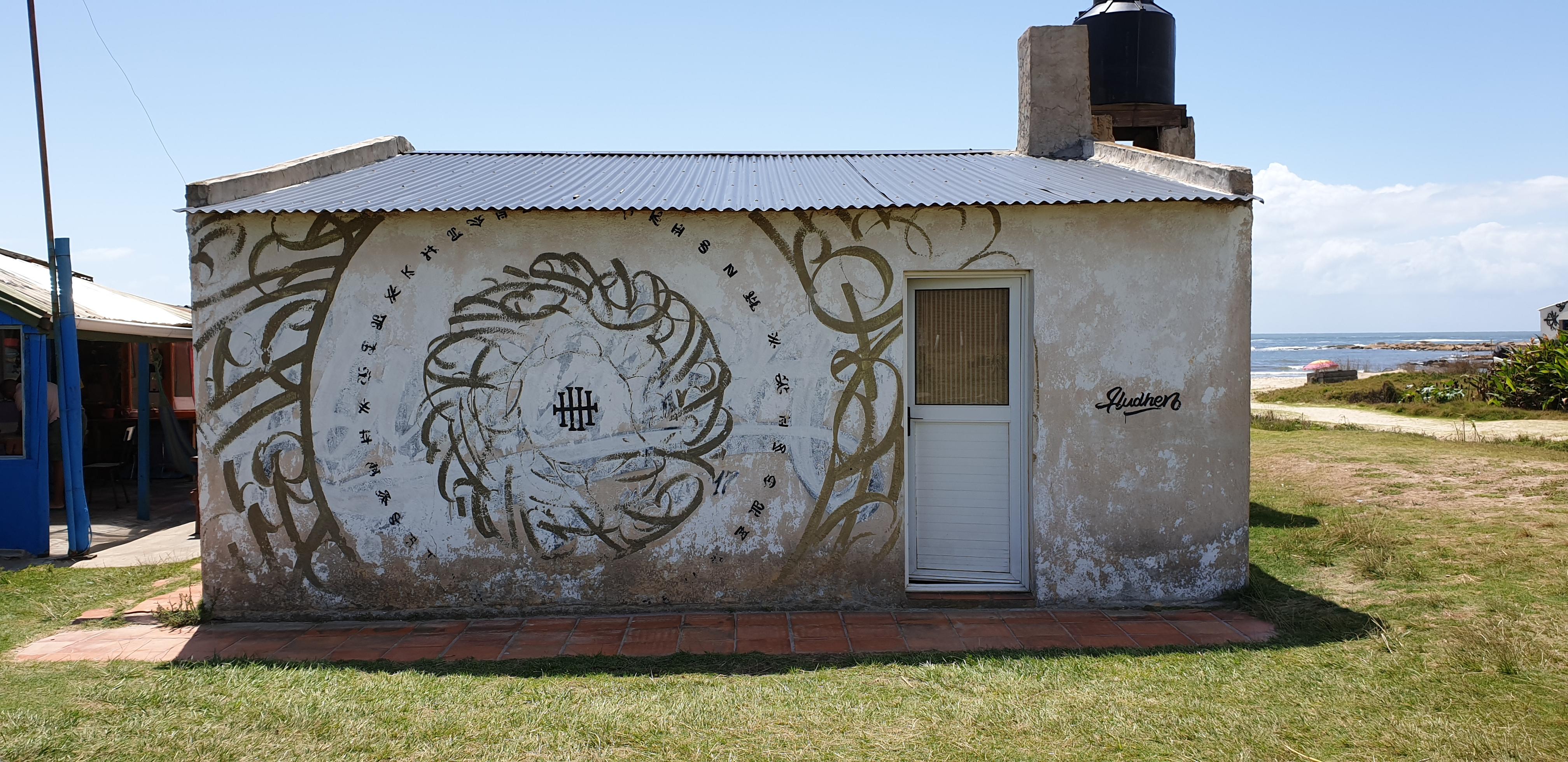 Mur réalisé par Hudson Henrique - Cabo Polonio - Uruguay 2020 - ©nofakeinmynews.com