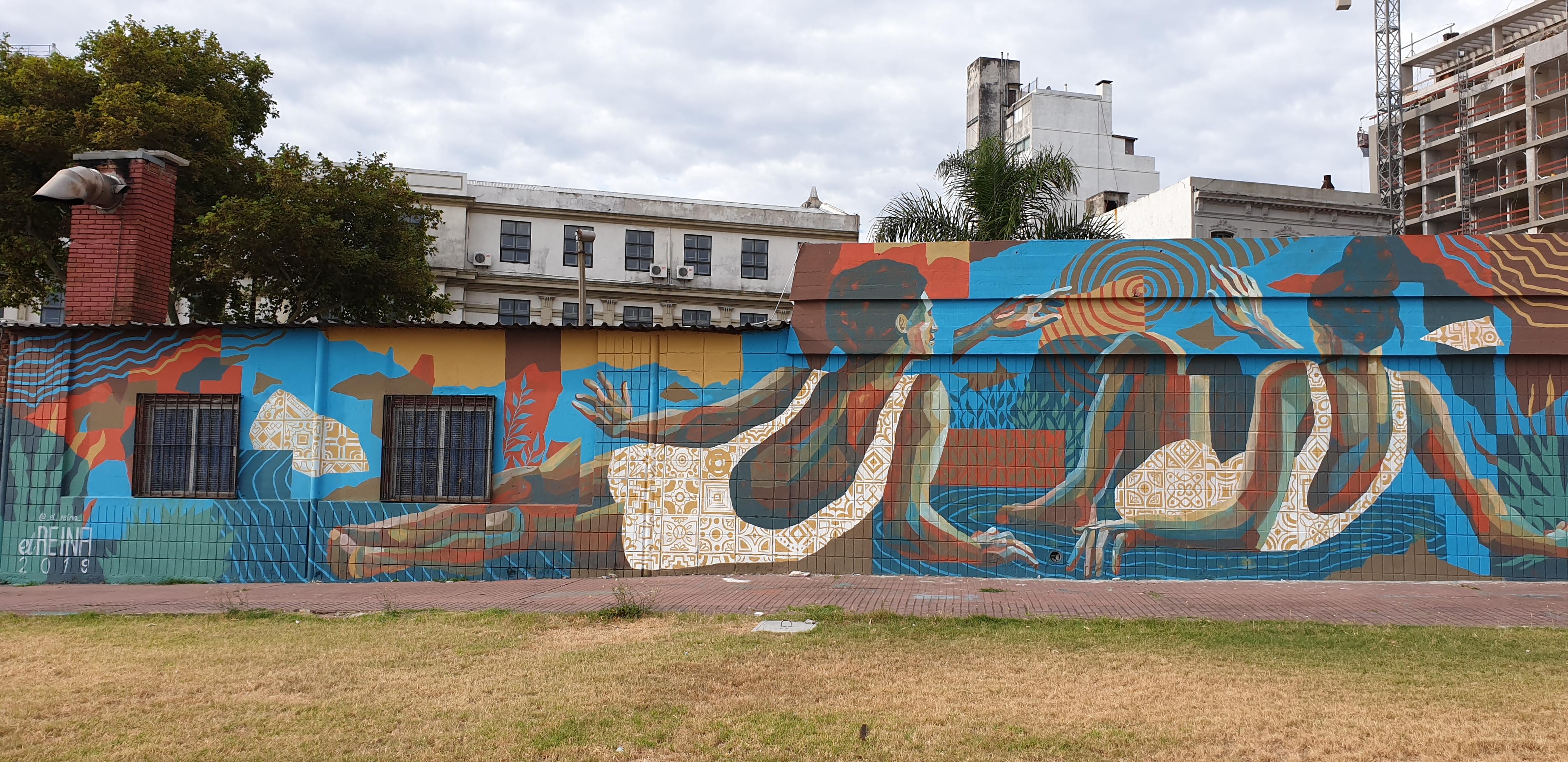 Mur réalisé par Leandro Bustamante Reina - Montevideo - Uruguay 2020 - ©nofakeinmynews.com