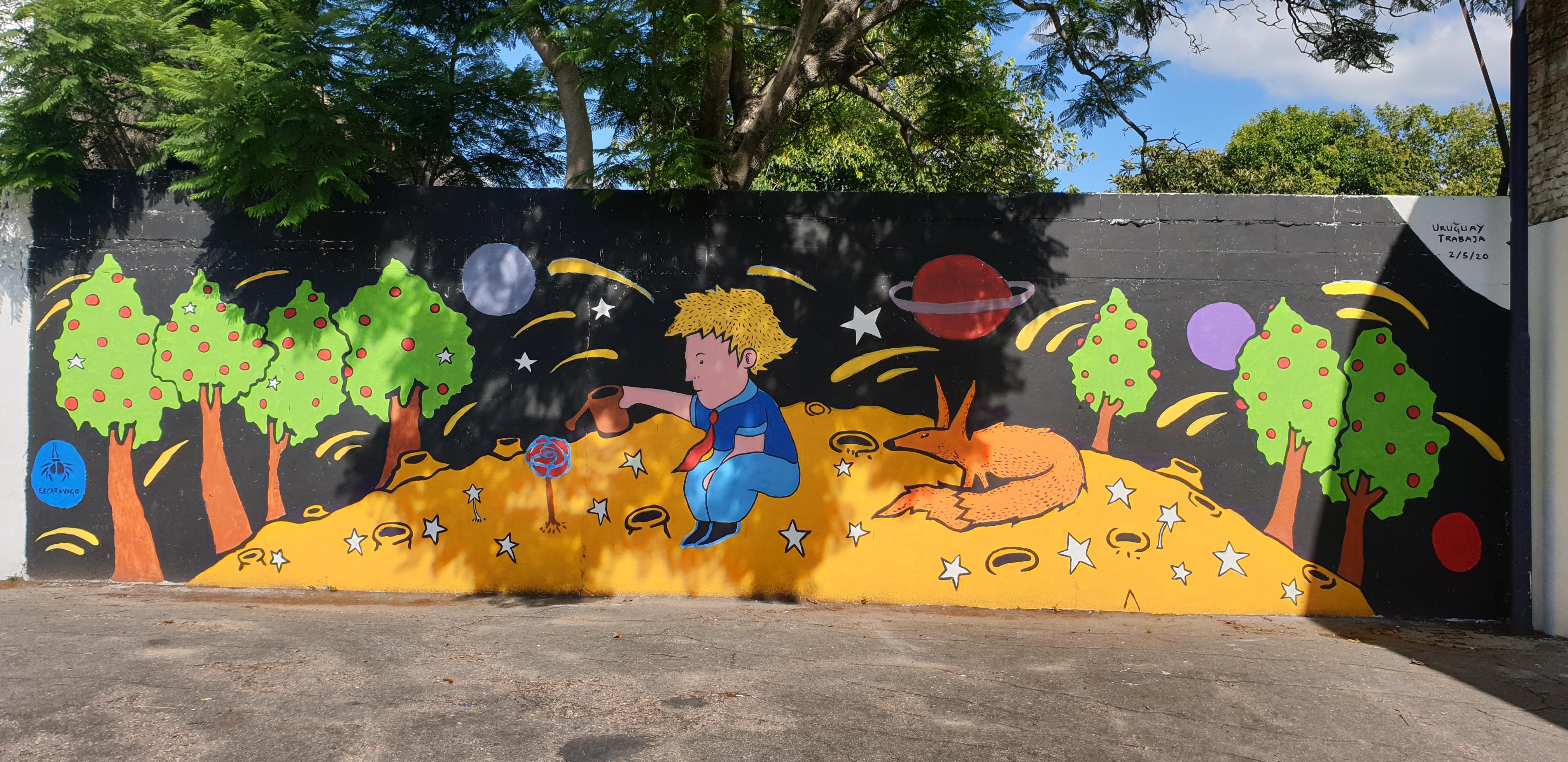 Mur réalisé par Nicolas Rodriguez - Durazno - Uruguay 2020 - ©nofakeinmynews.com