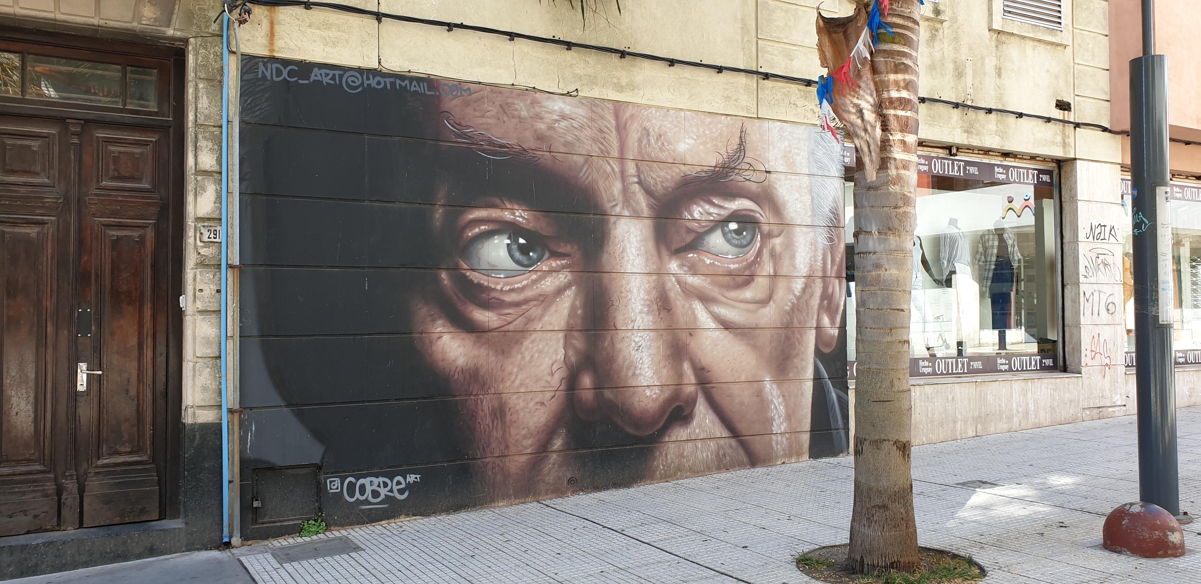 Mur réalisé par Nino Cobre - Montevideo - Uruguay 2020 - ©nofakeinmynews.com