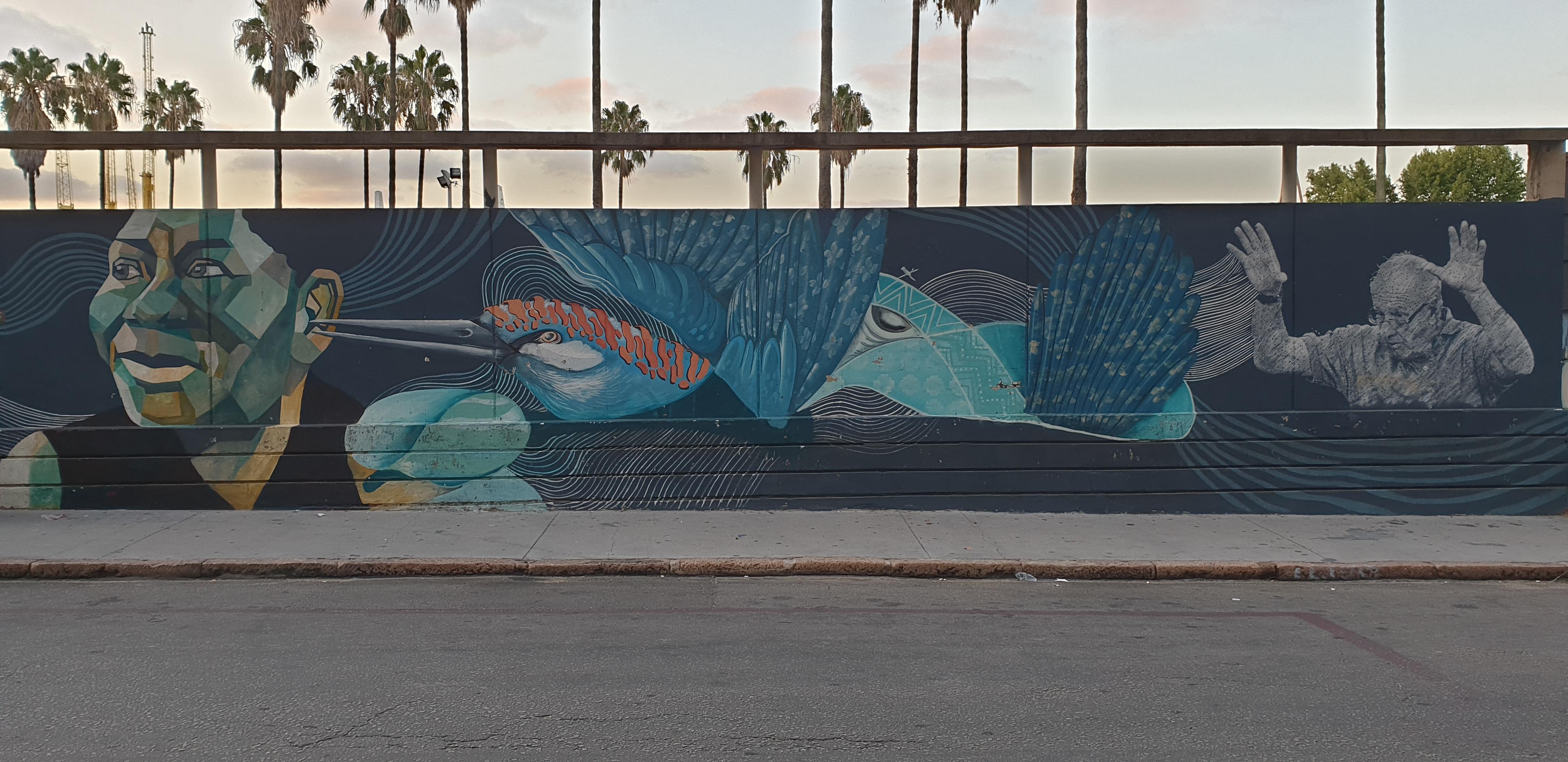 Mur réalisé par Pardos, El Santo, LEA, Andres Letop, Ivan Salazar - 2-Montevideo - Uruguay 2020 - ©nofakeinmynews.com