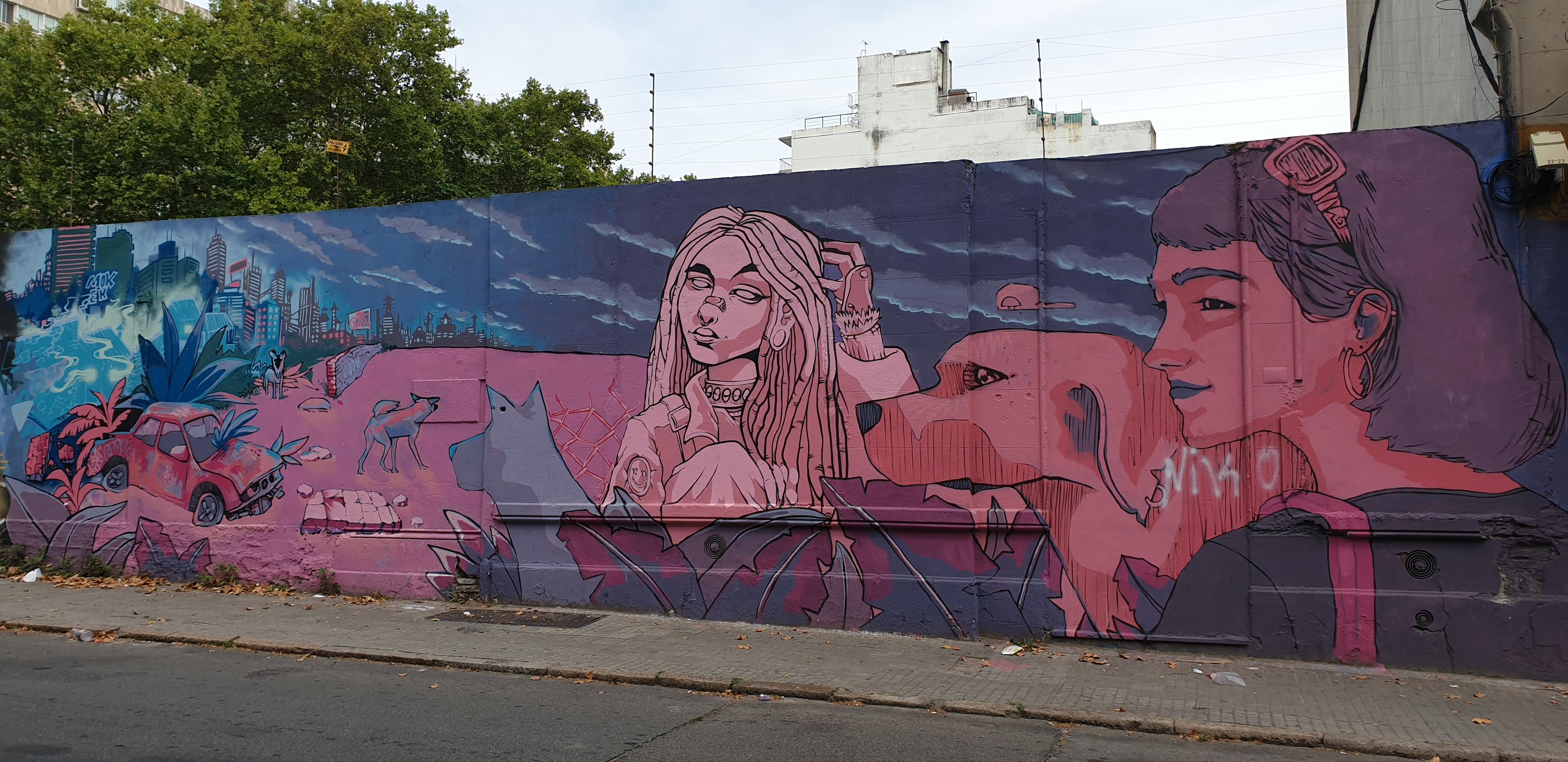 Mur réalisé par Pardos , Ganga Positive - Montevideo - Uruguay 2020 - ©nofakeinmynews.com