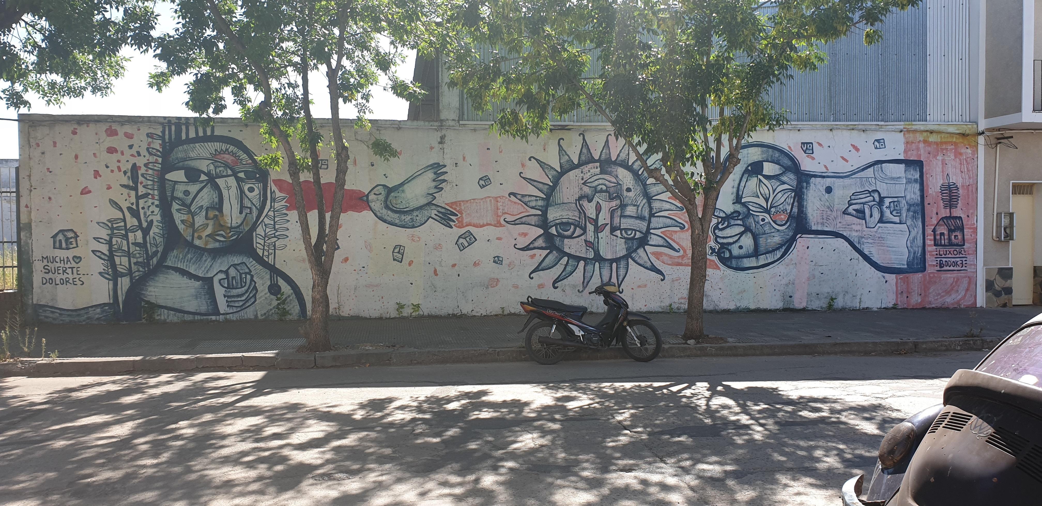 Mur réalisé par Soy Luxor - Dolorès - Uruguay 2020 - ©nofakeinmynews.com
