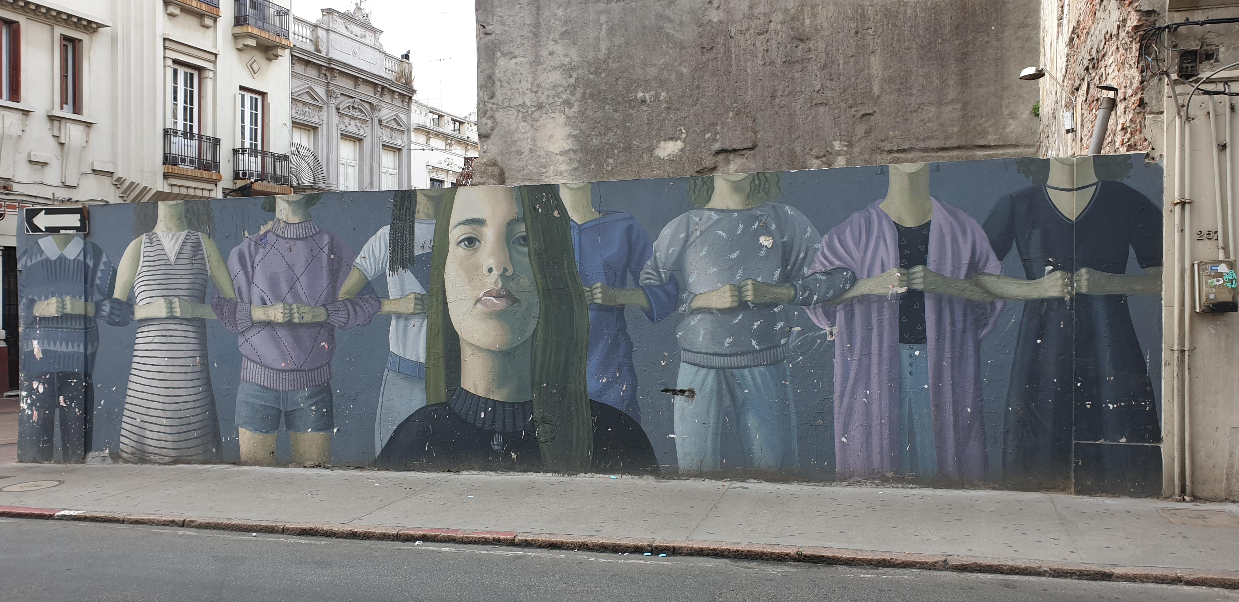 Mur réalisé par le collectif Licuado - Montevideo- Uruguay 2020 - -©nofakeinmynews.com