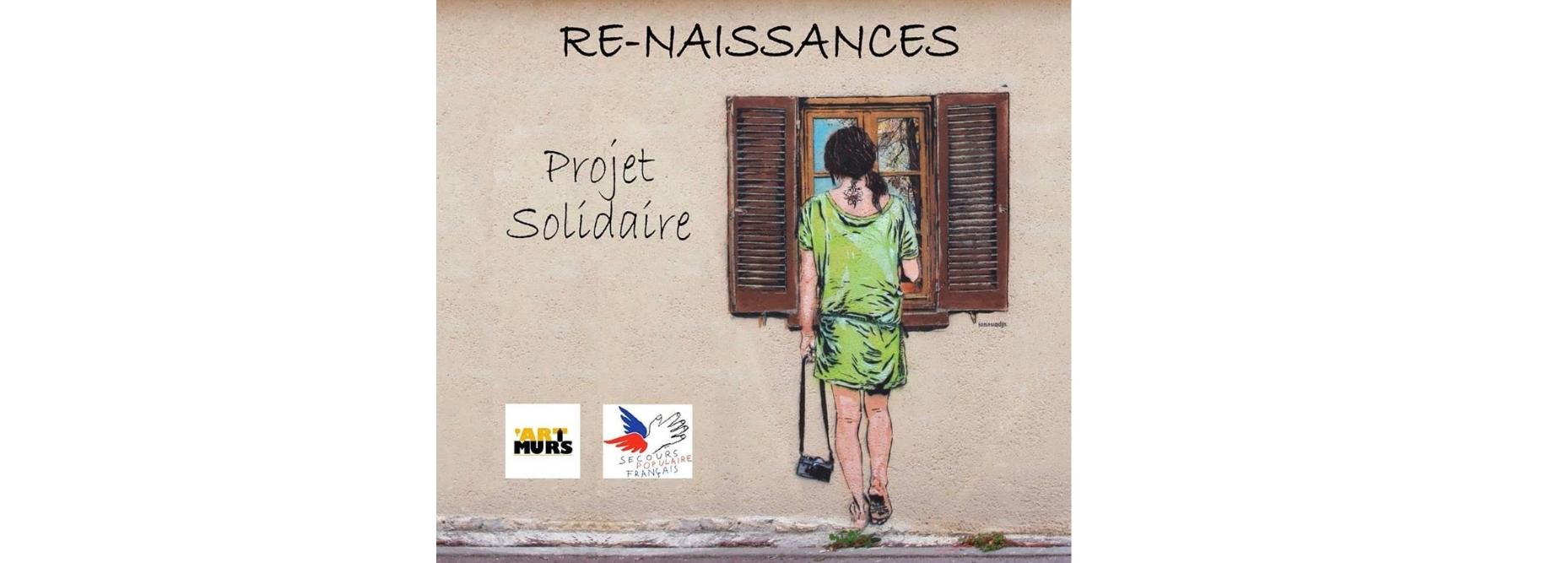 Affiche expo virtuelle Re-naissance par Art Murs et Secourps Populaire