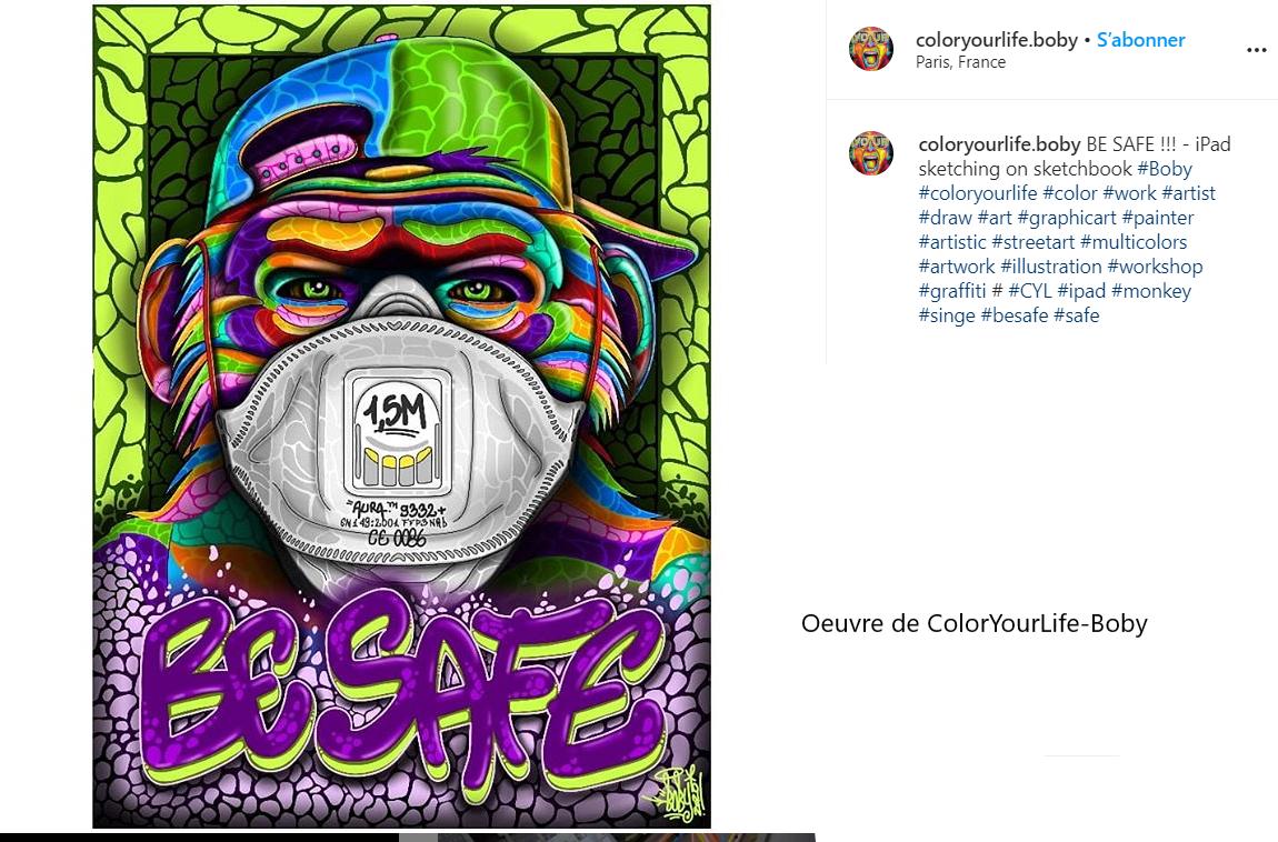 Be Safe - oeuvre réalisée par ColorYourLife-Boby