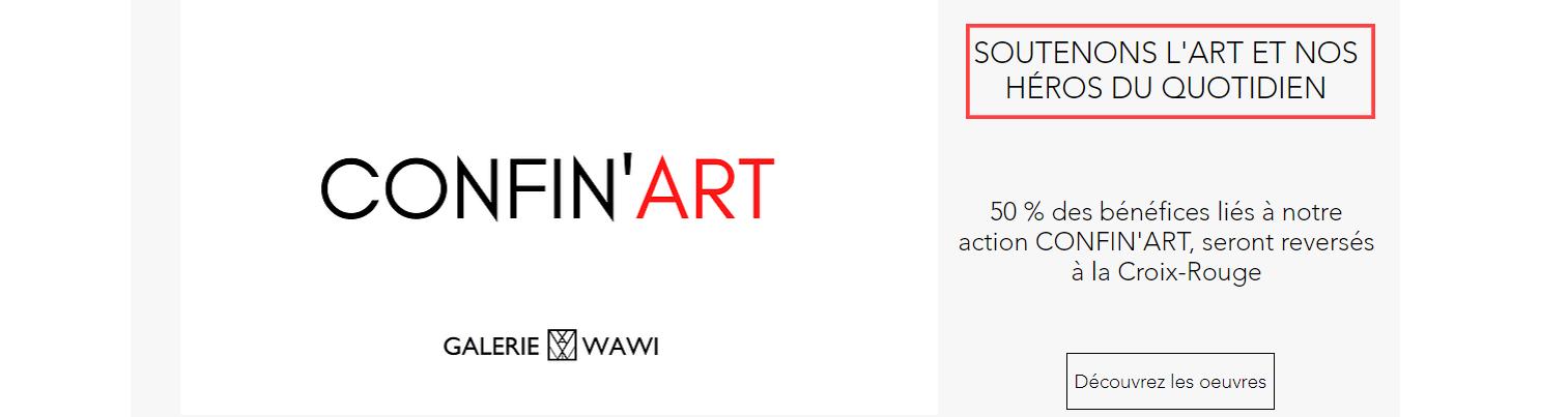 Image CONFINART tirée du site de la galerie WAWI