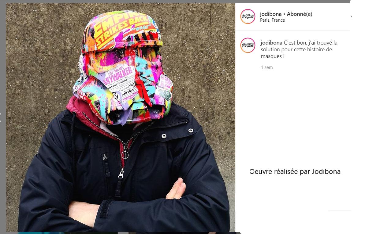 Une altrnative au masque trouvée par Jodibona