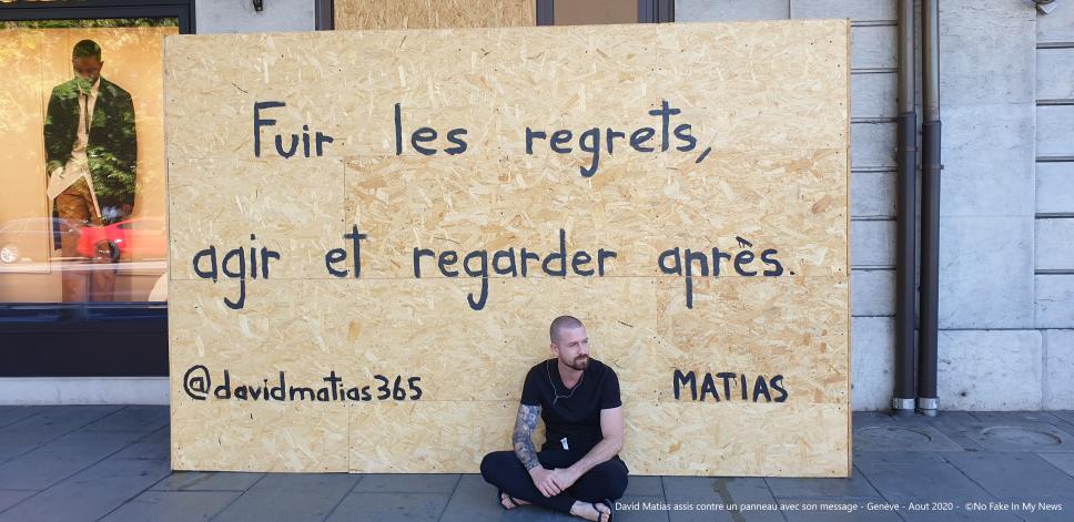 David Matias : l'artiste qui murmure ses maux aux genevois