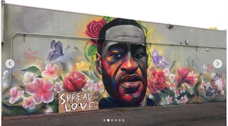 Fresque réalisée à Denver . Image issue du compte Instagram @hieroveiga