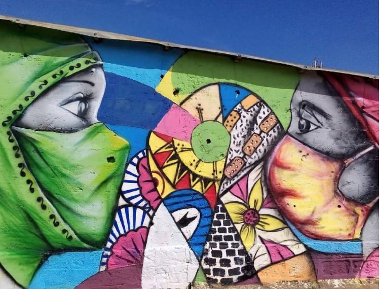 Fresque réalisée par le collectif Logone Graff Crew ( @logonegraffcrew ) au Togo
