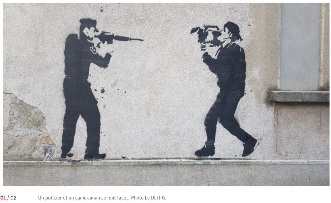 Image issue de l'article Aubenas un graffiti sur l'ancien hôtel de police qui interpelle dans ledauphine.fr du 10 decembre