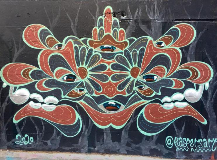 Mur réalisé par Lukas Kasper - Image issue du compte Instagram @kaspersart