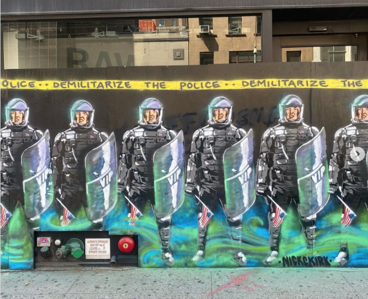 Mur réalisé par Nick C. Kirk à New York - Image issue du comte Instagram @nickckirk