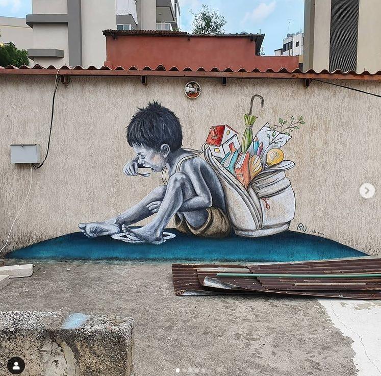 NO Poverty réalisé par Roula Abdo. Ru. Image issue du compte Instagram @roula.abdo