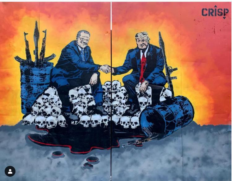 Vote or Die par l'artiste CRISP à Marrickville - Image issue du compte Instagram @crispstreetart